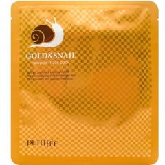 Petitfee Gold&Snail Mask Pack Гидрогелевая маска для лица с золотом и улиточным муцином 30мл