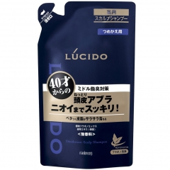 Mandom Lucido Deodorant Shampoo Шампунь для очистки кожи головы с флавоноидами (рефил) 380мл