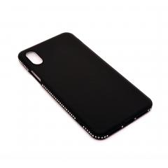 Чехол для iPhone X DLED черный со стразами