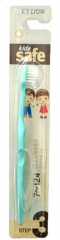 CJ Lion Kid's Safe Детская зубная щетка с нано-серебряным покрытием от 7 до 12 лет (мягкая) 1шт
