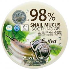 3W Clinic Snail Mucus Soothing Gel Универсальный гель с улиточным муцином 300мл