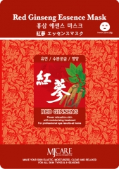 Mijin Red Ginseng Essence Mask Тканевая маска с красным женьшенем 1шт