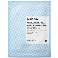 Mizon Enjoy Vital-Up Time Watery Moisture Mask Увлажняющая тканевая маска с зеленым чаем 23мл