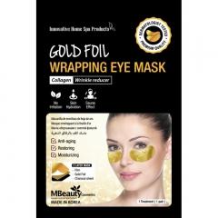 MBeauty Gold Foil Wrapping Eye Mask Антивозрастные золотые фольгированные патчи с коллагеном 1 пара