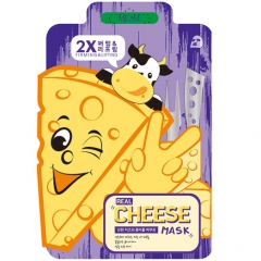 Mijin Mj Care Real Cheese Firming & Lifting Mask Тканевая лифтинг-маска с ферментированным сыром 1шт