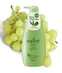 Kracie Naive Кондиционер с экстрактом алоэ и маслом виноградных косточек 550мл