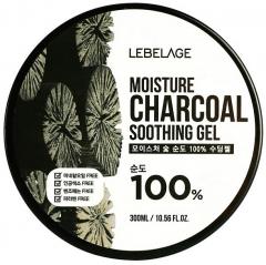 Lebelage Moisture Charcoal 100% Soothing Gel Увлажняющий гель с углем 300мл