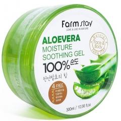 Farmstay Moisture Soothing Gel Aloe Vera Увлажняющий успокаивающий гель с экстрактом алоэ вера 300мл