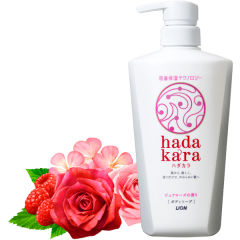 Lion Hadakara Увлажняющий гель для душа (аромат цветочного букета) 500мл