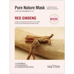 Anskin Secriss Pure Nature Mask Pack Red ginseng Маска для лица тканевая с женьшенем 25мл