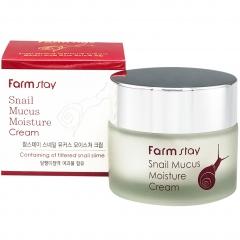 Farmstay Snail Mucus Moisture Cream Крем для лица увлажняющий с муцином улитки 50г