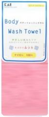 Kai Body Wash Towel Мочалка для тела (розовая) 30х100см (средней жесткости) 1шт