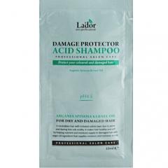 La'dor Damaged Protector Acid Shampoo Шампунь для волос с аргановым маслом (тестер) 10мл