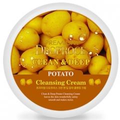 Deoproce Premium Clean & Deep Potato Cleansing Cream Крем очищающий с экстрактом картофеля 300г