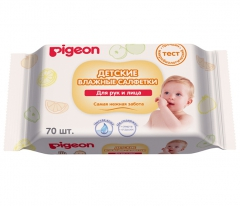 Pigeon Влажные детские салфетки для рук и рта, пустышек, игрушек 70шт