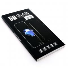 Стекло защитное DLED для iPhone 8 5D черное 0.2мм