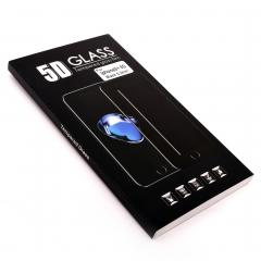 Стекло защитное DLED для iPhone Plus 8 5D черное 0.2мм